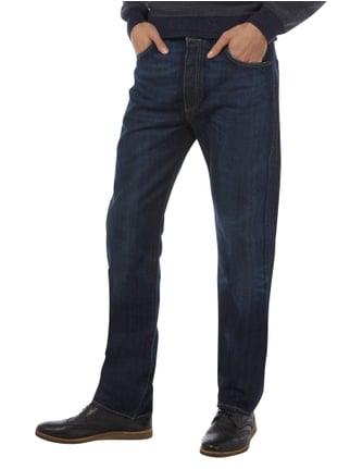 Levi's® Stone Washed Straight Cut 5-Pocket-Jeans Dunkelblau - 1