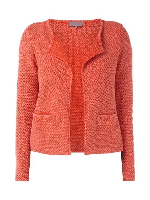 Cardigan im Washed Out Look Orange - 1