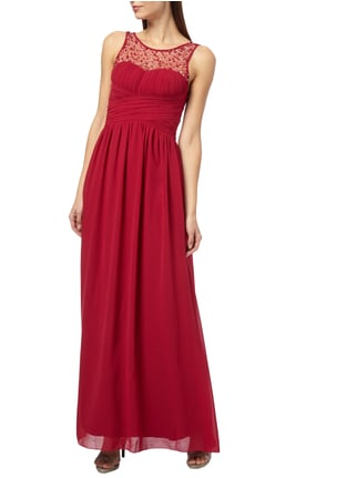 Little Mistress Abendkleid aus Chiffon in Rot - 1