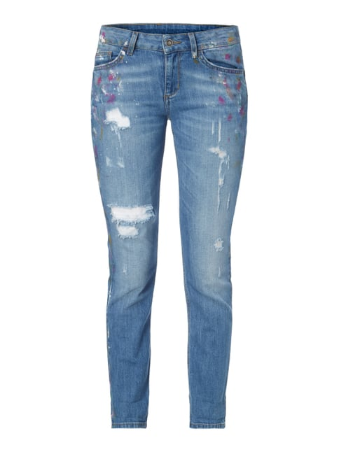 5-Pocket-Jeans im Destroyed Look Blau / Türkis - 1