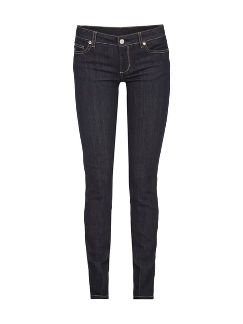 Slim Fit Rinsed Washed Jeans Blau / Türkis - 1