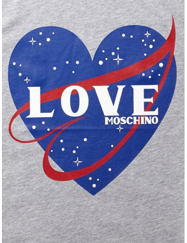 love moschino shirt mit herz print in grau schwarz online kaufen 9510709 p c online shop. Black Bedroom Furniture Sets. Home Design Ideas