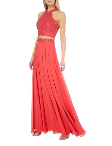 Luxuar Abendkleid im Rock-Top-Look in Rot - 1