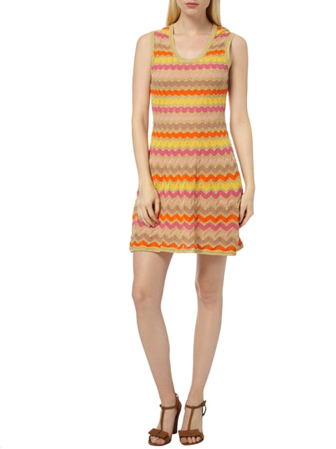 M Missoni Kleid mit Zickzack-Muster in Orange - 1