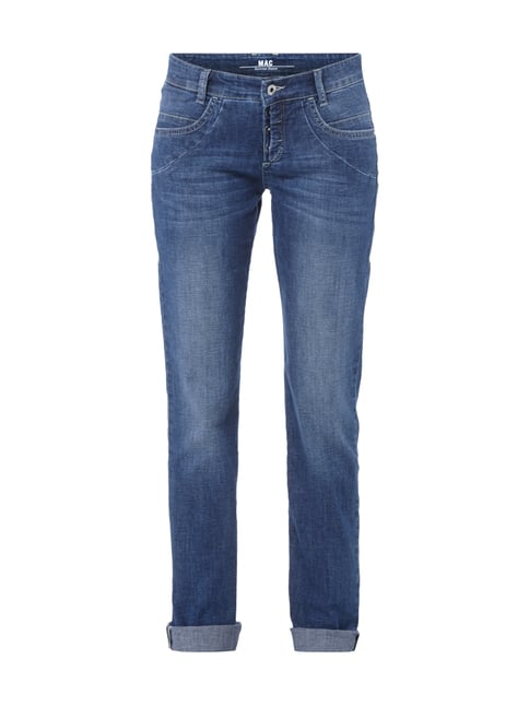 5-Pocket-Jeans im Stone Washed-Look Blau / Türkis - 1