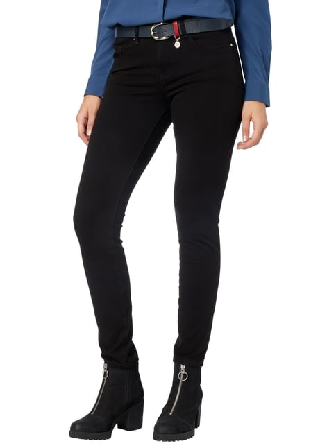 MAC Coloured Skinny Fit 5-Pocket-Jeans Schwarz - 1