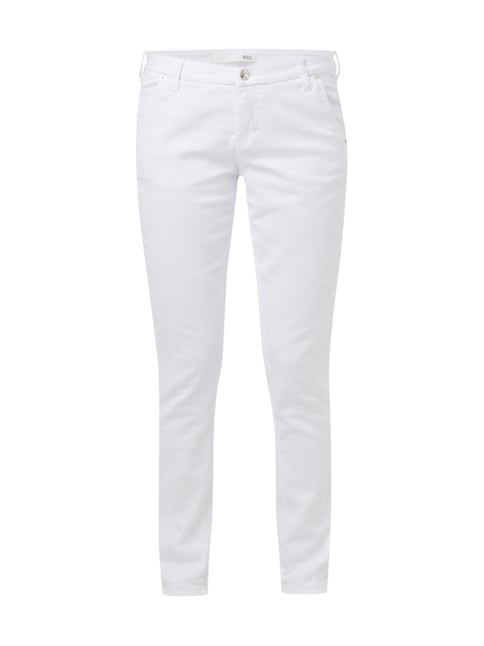 Coloured Slim Fit Jeans mit Stretch-Anteil Weiß - 1