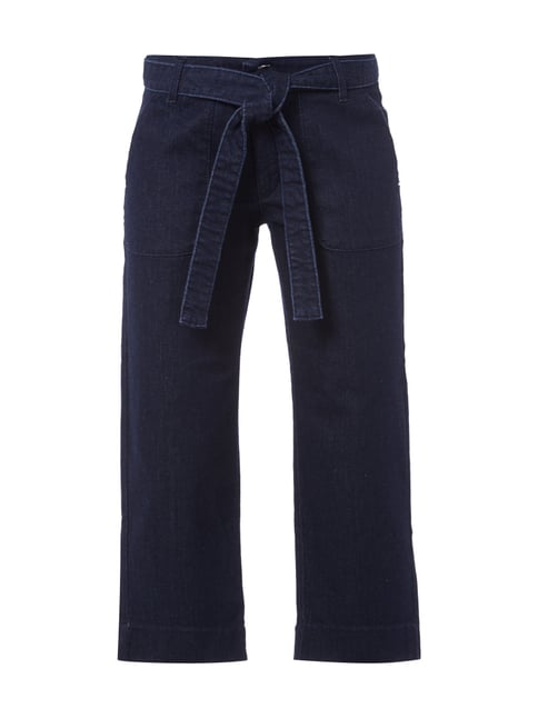 Culotte aus Rinsed Washed Denim Blau / Türkis - 1