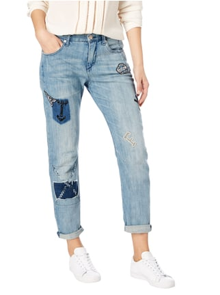 MAC Stone Washed Loose Fit Jeans mit Aufnähern Jeans meliert - 1