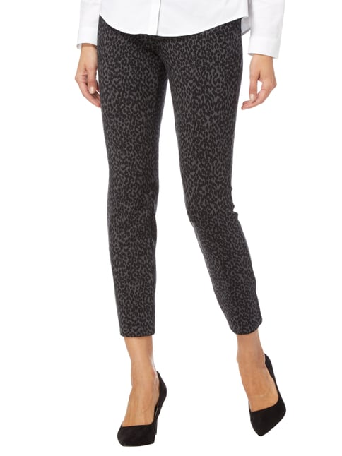 MAC Stretchhose mit Leopardenmuster Anthrazit - 1