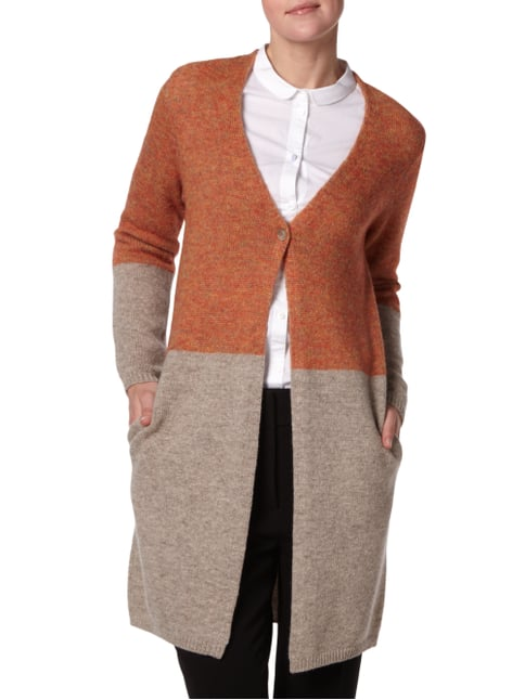 Maerz Longcardigan in Two-Tone-Machart Orange - 1