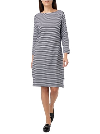 Maerz Sweatkleid mit Allover-Muster in Blau / Türkis - 1