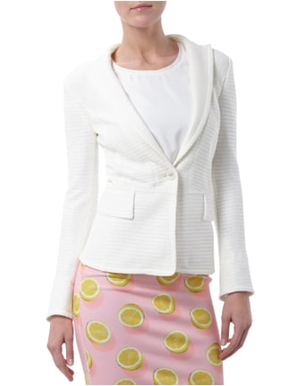 Marc Cain Collections Blazer aus Bast Offwhite - 1