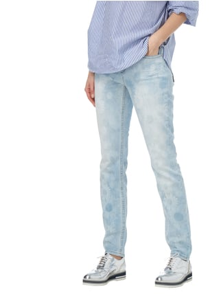 Marc Cain Collections Bleached Jeans mit floralem Muster Hellblau - 1