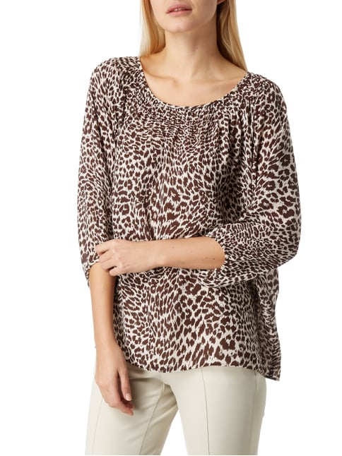 Marc Cain Collections Blusenshirt mit Leopardenmuster Dunkelbraun - 1