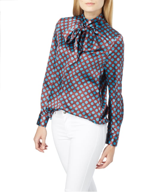 Marc Cain Collections Blusenshirt mit Polka Dots Blau - 1