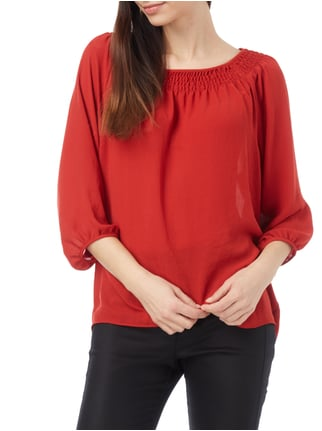 Marc Cain Collections Blusentop aus Chiffon Rot - 1