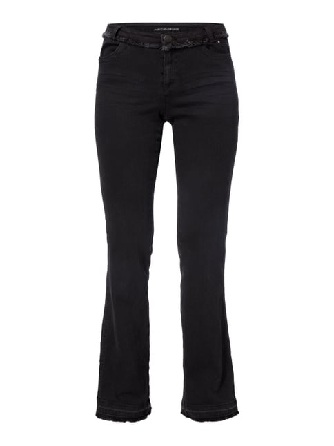 Coloured Boot Cut 5-Pocket-Jeans Grau / Schwarz - 1