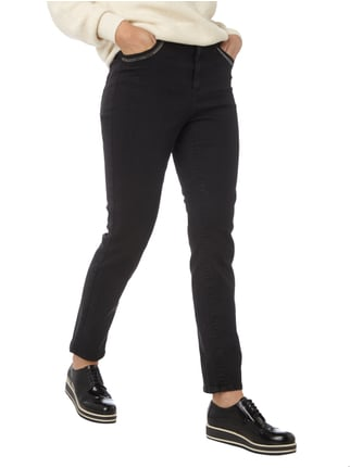 Marc Cain Sports Coloured Skinny Fit 5-Pocket-Jeans Schwarz - 1