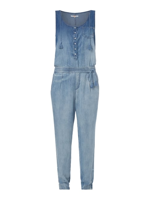 Jumpsuit im Stone Washed Look Blau / Türkis - 1
