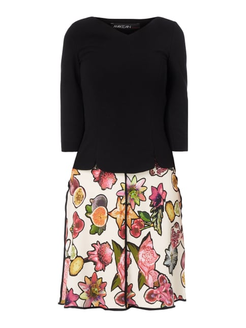Kleid im 2-in-1-Look mit Obst-Print Lila - 1
