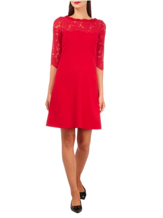 Marc Cain Collections Kleid mit floraler Spitze in Rot - 1