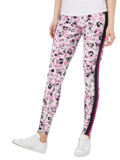Marc Cain Additions Leggings mit Leopardenmuster Hellrosa - 1