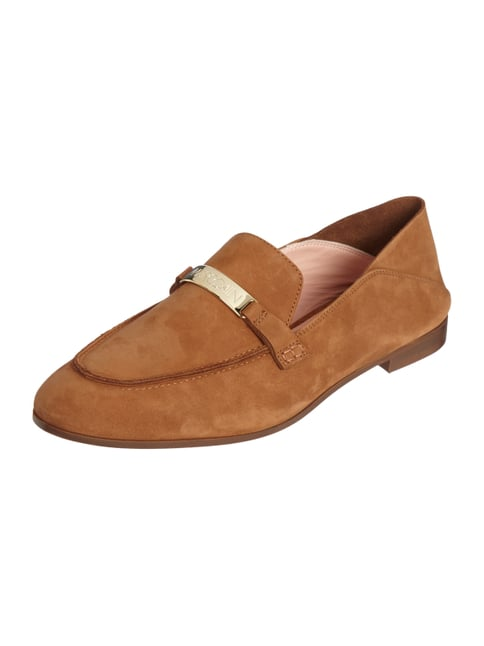 Loafer aus Veloursleder Braun - 1