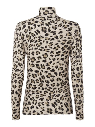 Marc Cain Sports Longsleeve mit Leopardenmuster Sand - 1
