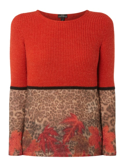 Pullover mit Mohair-Anteil Rot - 1