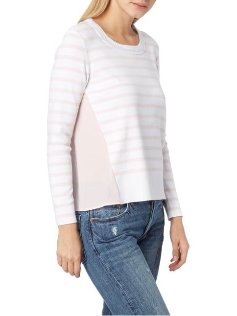 Marc Cain Sports Pullover mit Streifenmuster Rosa - 1