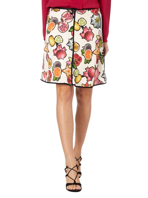 Marc Cain Collections Rock in A-Linie mit Obst-Print Purple - 1