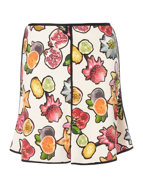 Rock in A-Linie mit Obst-Print Lila - 1
