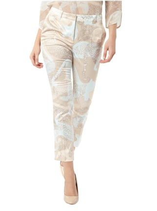 Marc Cain Collections Satinhose mit Allover-Muster Blau - 1