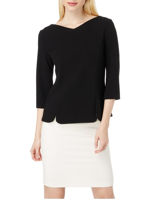 Marc Cain Additions Shirt aus Krepp Schwarz - 1
