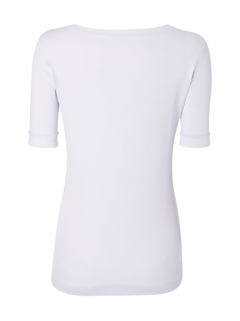 Marc Cain Collections Shirt mit 1/2-Arm - fein gerippt Lavendel - 1