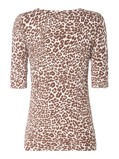 Marc Cain Collections Shirt mit Leopardenmuster Dunkelbraun - 1