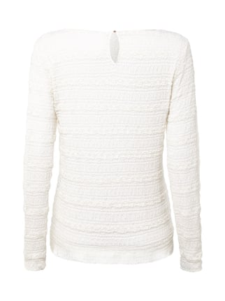 Marc Cain Collections Shirt mit Lochmuster Offwhite - 1