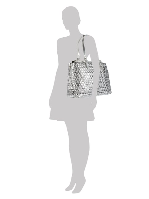 Marc Cain Bags & Shoes Shopper in Metallicoptik in Grau / Schwarz - 1
