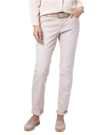 Marc Cain Collections Skinny Fit Mid Rise Hose mit Stretch-Anteil Sand - 1