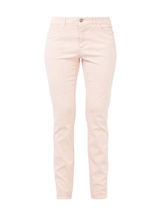 Slim Fit Jeans im Washed Out-Look Rosé - 1