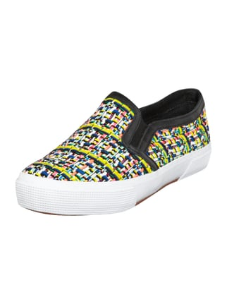 Slip-On Sneakers in Web-Optik Grau / Schwarz - 1