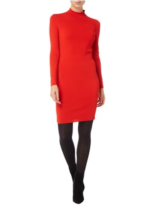 Marc Cain Collections Strickkleid mit Turtleneck in Rot - 1