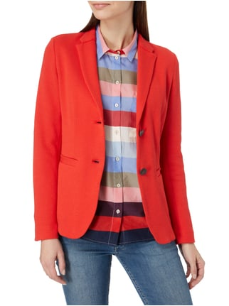 Marc O'Polo Blazer mit Webstruktur Rot - 1