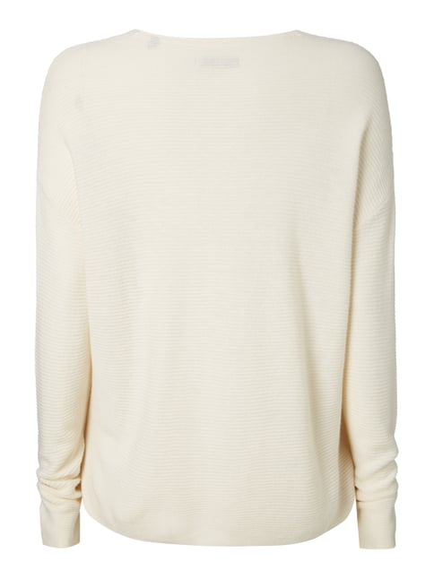 Marc O'Polo Boxy Fit Strickpullover mit Kaschmir-Anteil Beige - 1
