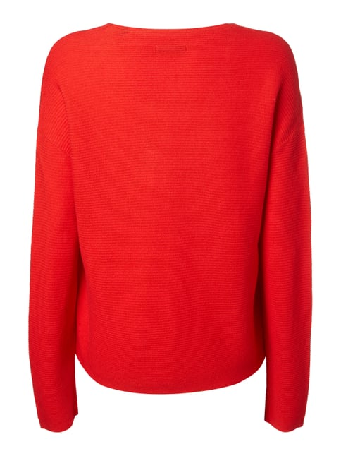 Marc O'Polo Boxy Fit Strickpullover mit Kaschmir-Anteil Rot - 1