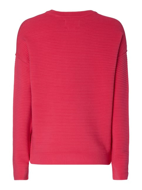 Marc O'Polo Denim Boxy Fit Pullover im Rippenstrick Pink - 1
