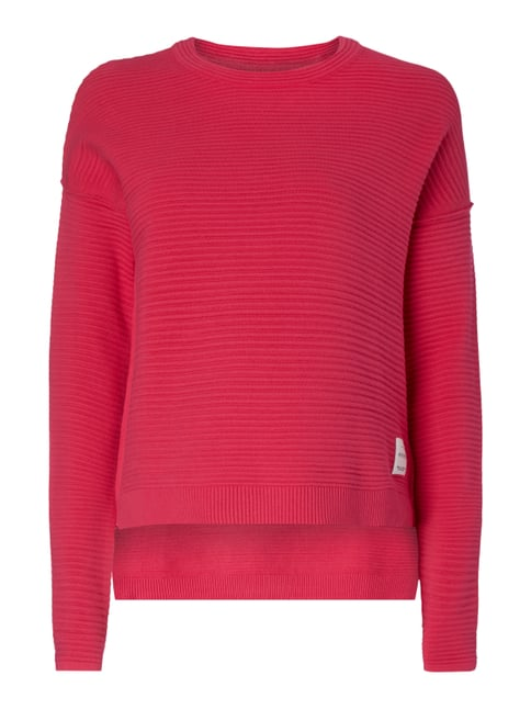 Boxy Fit Pullover im Rippenstrick Rosé - 1