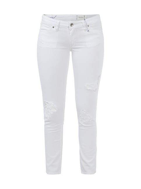 Cropped 5-Pocket-Jeans im Destroyed Look Weiß - 1