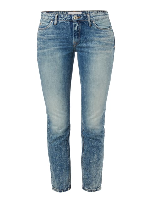 Old Blue Washed Straight Fit Cropped Jeans Blau / Türkis - 1